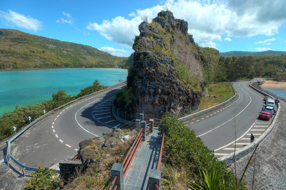 La courbe de Maconde View Point, une des places populaires de l'île Maurice